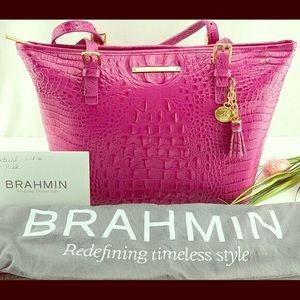 Authentic Brahmin Medium Asher Fuschia Tote